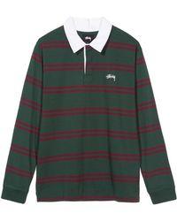Stussy - Desmond Stripe Rugby Polo - Lyst