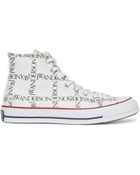 c5874d3d84f Converse X Jw Anderson Glitter High-top Trainers in Green for Men - Lyst