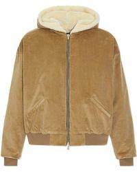 Fear Of God - Corduroy Alpaca Hooded Sweatshirt - Lyst