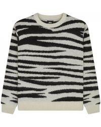 Stussy - Zebra Mohair Sweater - Lyst