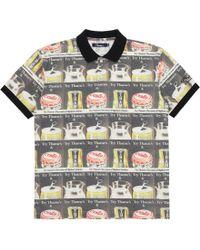 Slam Jam Socialism · Thames London - Try Thames Polo T-shirt All Over Print  - Lyst 646308c55