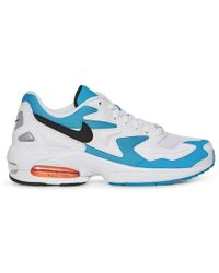the latest f8df5 e15d6 Nike - Air Max 2 Light Sneakers White black - Lyst