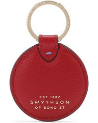 Smythson - Burlington Disc Keyring - Lyst