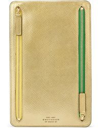 Smythson - Panama Zip Currency Case - Lyst