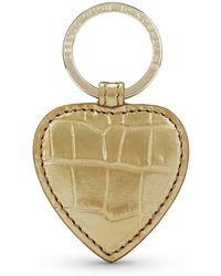 Smythson - Mara Heart Keyring - Lyst