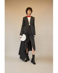 Solace London - Ennis Jacket Navy Stripe - Lyst