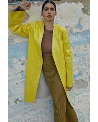 Solace London - Safina Coat Yellow - Lyst