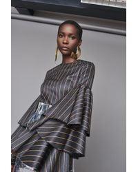 Solace London - Ruba Top Grey Stripe - Lyst