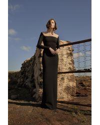 Solace London - Lolita Maxi Dress Black - Lyst