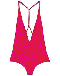 Mikoh Swimwear | Africa One Piece In Island Red Ginger | Lyst