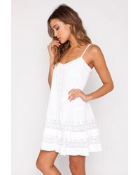 Twelfth Street Cynthia Vincent   Mini Western Lace Dress In White   Lyst