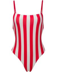 Solid & Striped | The Chelsea One-piece In Cherry Stripe | Lyst