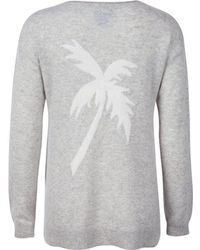 Letarte | Cashmere Palm Sweater In Foggy | Lyst