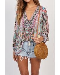 Camilla | Lace Up Shirt In Mochilla Chiller | Lyst
