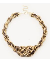Sole Society - Beaded Weave Bib Necklace - Lyst