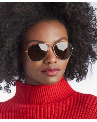 Sole Society - Lorna Aviator Sunglasses - Lyst
