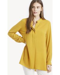 Vince Camuto - L/s Soft Texture Henley Tunic - Lyst