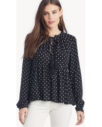 86724c66d2a68e Lost + Wander - Starry Night Lace Up Top - Lyst