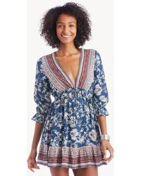 Lost + Wander - Indigo Muse Mini Dress - Lyst
