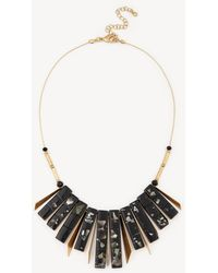 Sole Society - Geo Stone Statement Necklace - Lyst