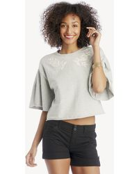 1.STATE - Embroidered French Terry Sweatshirt - Lyst