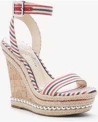 86fbbb320d4 Jessica Simpson - Alinda Woven Platform Wedge Sandals - Lyst