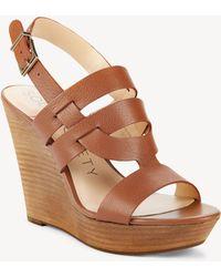 Sole Society - Jenny Platform Wedge Sandal - Lyst