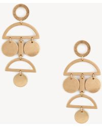 Sole Society - Cut Out Geo Statement Earrings - Lyst