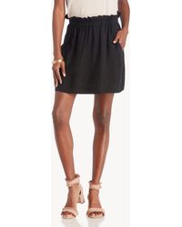 1.STATE - Paperbag Mini Skirt - Lyst