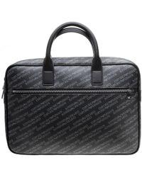 Emporio Armani - Logo Print Shoulder Bag - Lyst