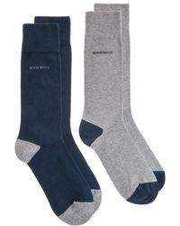 BOSS - 2 Pack Design Socks - Lyst