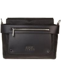 Armani Jeans - Textured Logo Shoulder Bag - Lyst