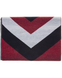 Tommy Hilfiger | Chevron Lurex Denim Scarf | Lyst