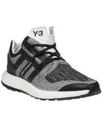 207b717cc71e1 Y-3 Primeknit Pure Boost ZG Sneakers in Black for Men - Lyst