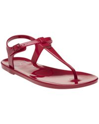 Emporio Armani - Branded Thong 2 Sandals - Lyst