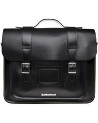"Dr. Martens - 15"" Leather Satchel - Lyst"