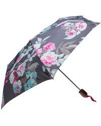 Joules - Grey Bloom Umbrella - Lyst