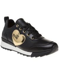 Love Moschino - Gold Heart Trainers - Lyst