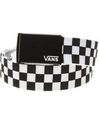 496f81938f3 Vans - Deppster Black   White Web Belt - Lyst