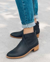 Soludos - Leather Venetian Bootie - Lyst