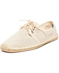 Soludos Men's Mesh Derby Lace Up - Natural