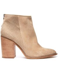 South Moon Under - Replay Suede Perforated Bootie - Lyst