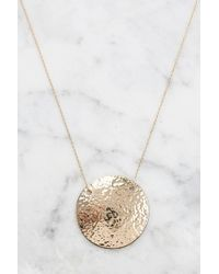 South Moon Under - Hadley Hammered Disc Necklace - Lyst