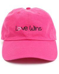 South Moon Under - Love Wins Baseball Hat - Lyst