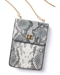 South Moon Under - Ceci Snake Cell Phone Crossbody Bag - Lyst