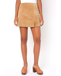 South Moon Under - Venice Beach Suede Leather Mini Skirt - Lyst