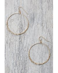 South Moon Under - Open Beaded Drop Hoop Earrings - Lyst