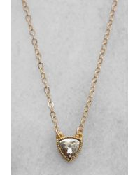 South Moon Under - Tringle Stone Pendant Necklace - Lyst