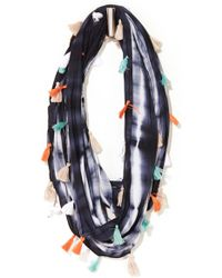 South Moon Under - Oblong Dye Technique Scarf With Tassels - Lyst