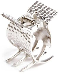 South Moon Under - Silver Hammered Claw Clip - Lyst